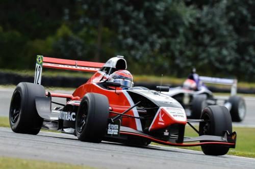 Pedro Piquet pela primeira vez em um fórmula (Foto: Divulgação TRS)