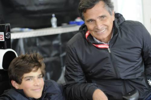 Pedro e Nelson Piquet na primeira etapa do Toyota Racing Series (Foto: Divulgação)
