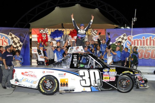 Victory lane em Las Vegas (Foto: Getty Images)