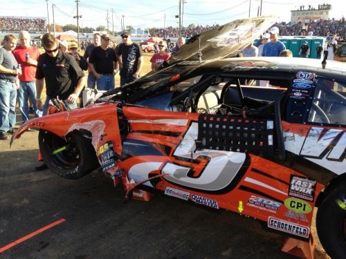 Veja como ficou o carro de Piquet Jr. após a batida (Foto: Romullo Tadeu / Piquet Sports)