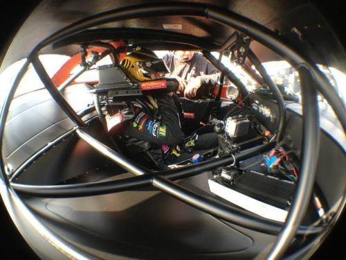 Nelsinho dentro co carro em Pensacola (Foto: Romullo Tadeu / Piquet Sports)