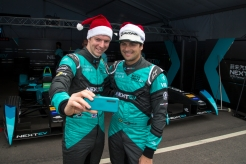 Nelson Piquet Jr (BRA) - NEXTEV TCR Formula E Team and Oliver Turvey (GBR) NEXTEV TCR Formula E Team at 2015 Formula E Championship, Rd3, Punta del Este e-prix, 18 December 2015